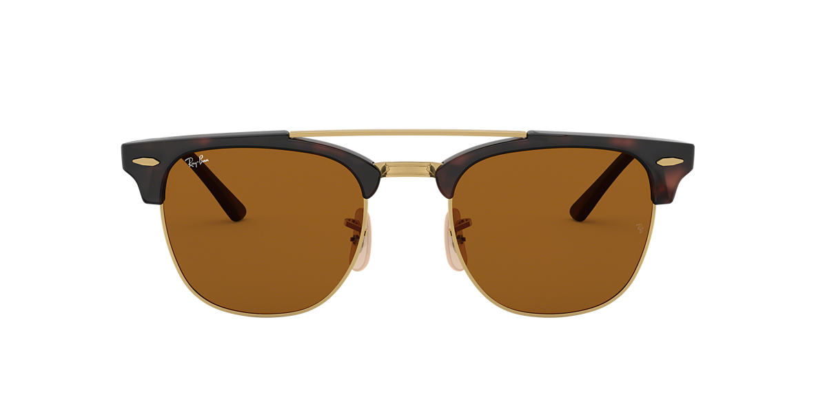 Tortoise RB3816 CLUBMASTER DOUBLE BRIDGE Brown  51