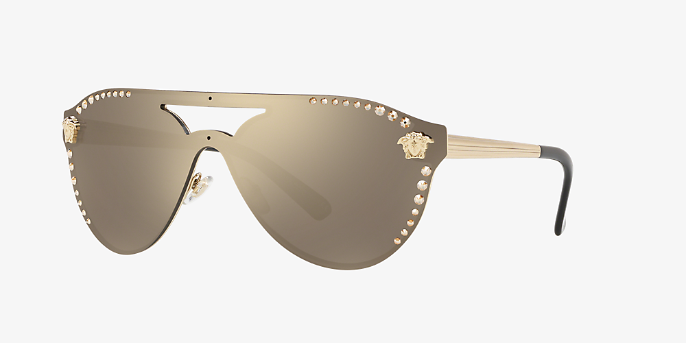 7e57e9898 Versace VE2161B 01 Gold & Bronze-Copper Sunglasses | Sunglass Hut ...