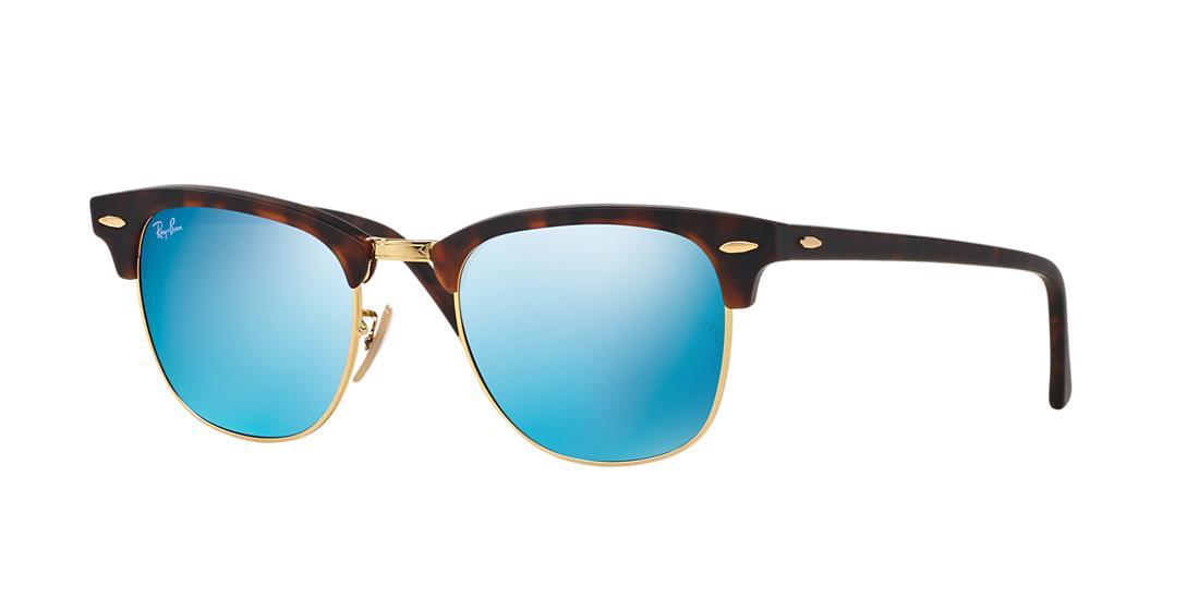 Shop Ray Ban Ray-Ban 51 Clubmaster Tortoise Square Sunglasses ... f15de59e06