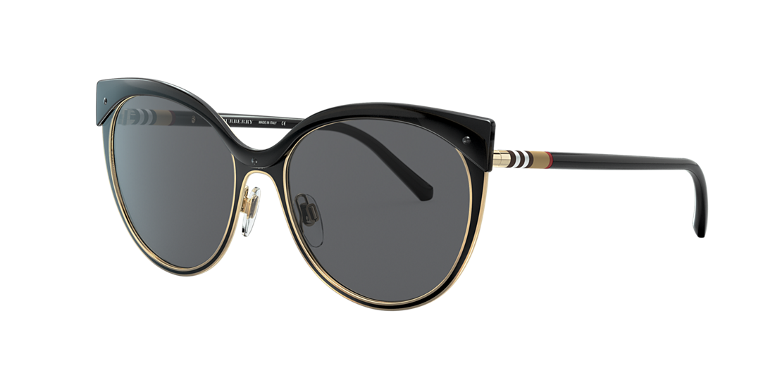 Burberry BE3096 55 Grey-Black   Black Sunglasses   Sunglass Hut ... 2ef1f95c63