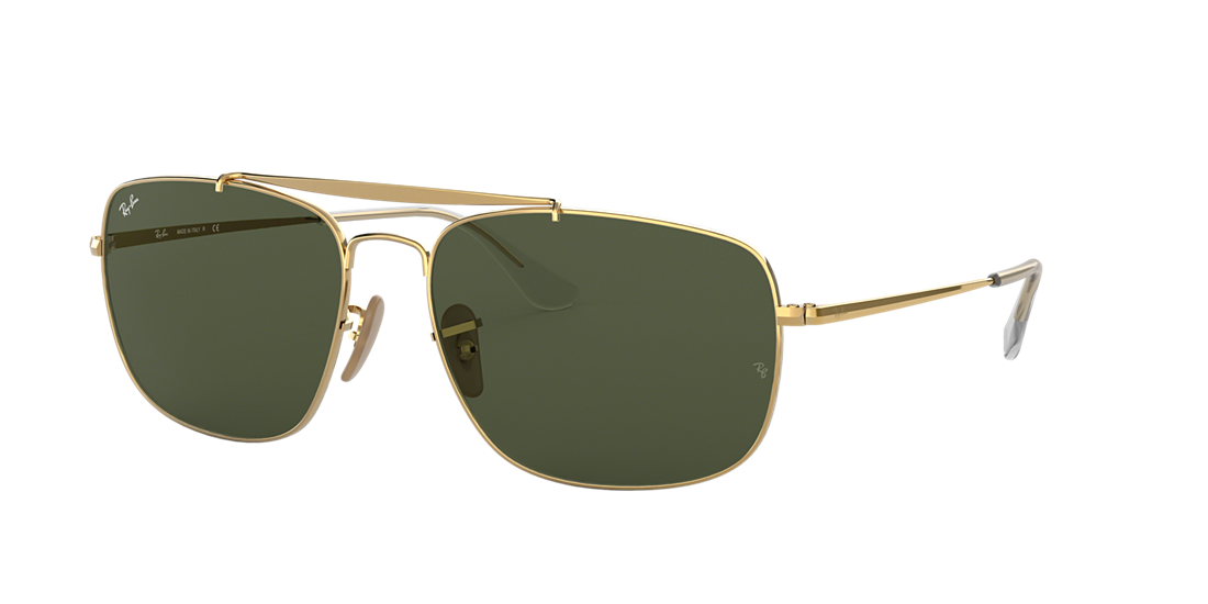 0a6ee8764c Ray-Ban RB3560 61 Green Classic G-15   Gold Sunglasses