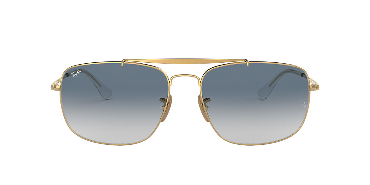 a948d1a69a Ray-Ban RB3560 61 Light Blue Gradient   Gold Sunglasses