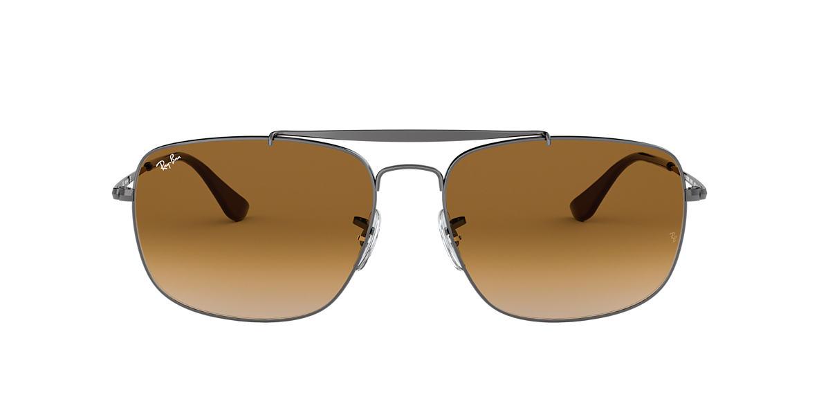 cb9c8fae54 Ray-Ban RB3560 61 Light Brown Gradient   Gunmetal Sunglasses ...