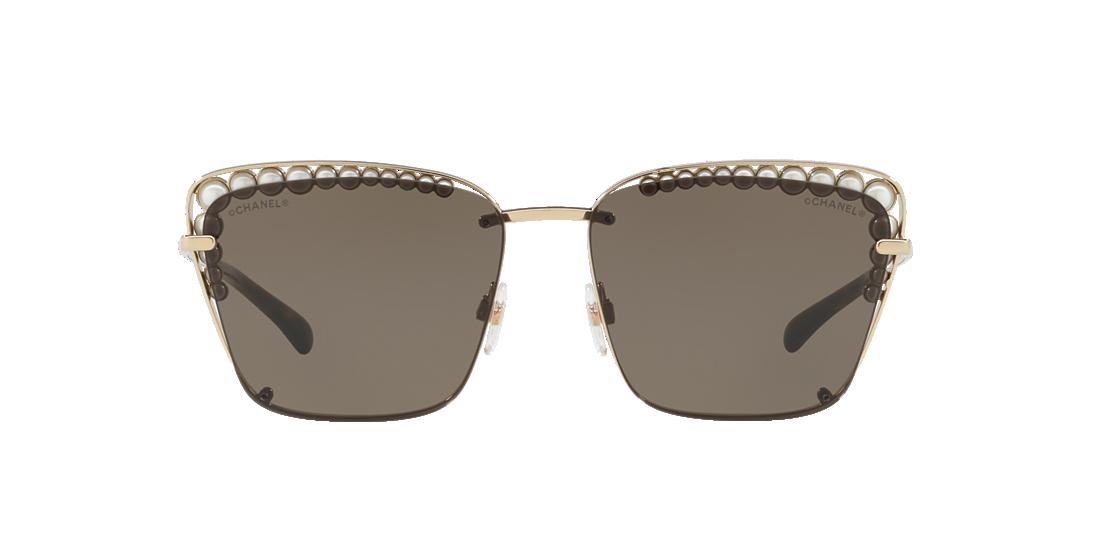 e6d8c89e5e6 Chanel CH4235H 57 Brown   Gold Sunglasses