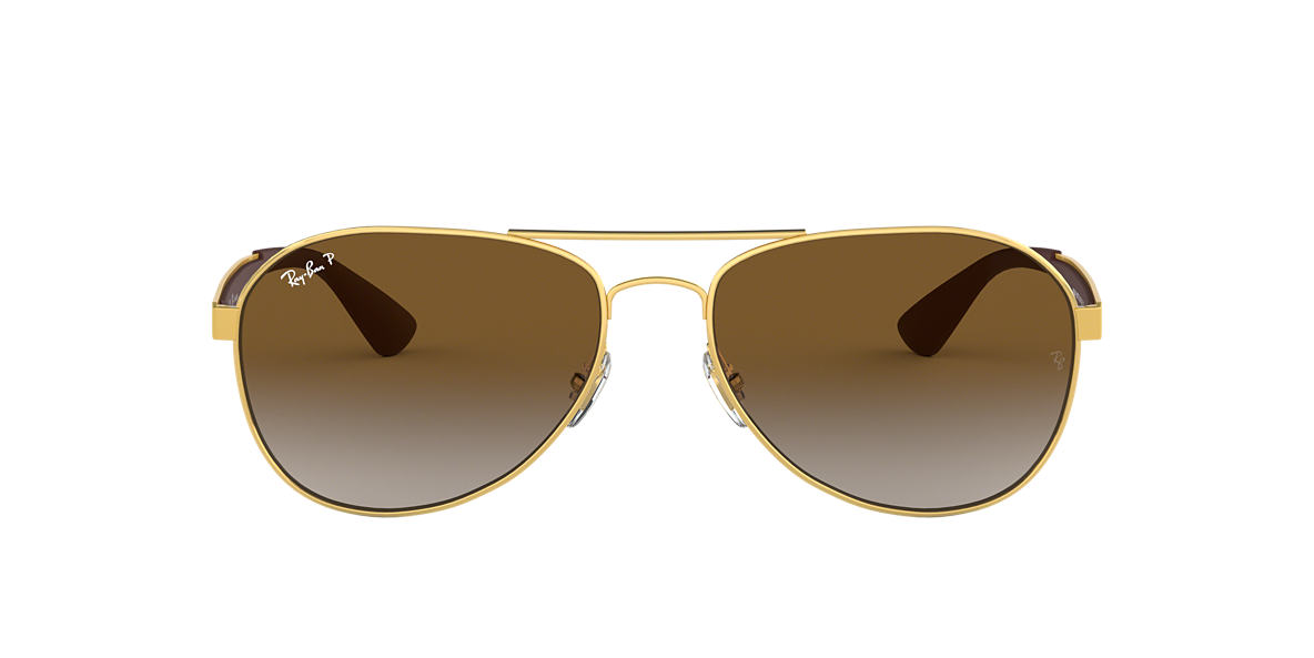12eb967ebcb9f RAY-BAN Gold RB3549 Polarized Brown Gradient polarized lenses 61mm