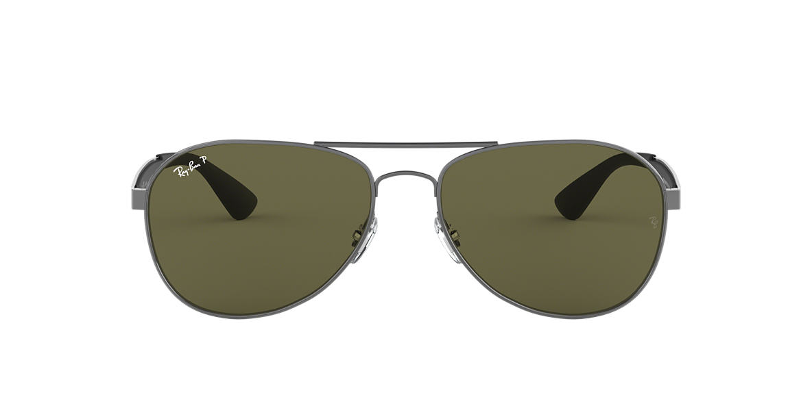 38b17ecdc2 RAY-BAN Gunmetal RB3549 Polarized Green Classic G-15 polarised lenses 61mm