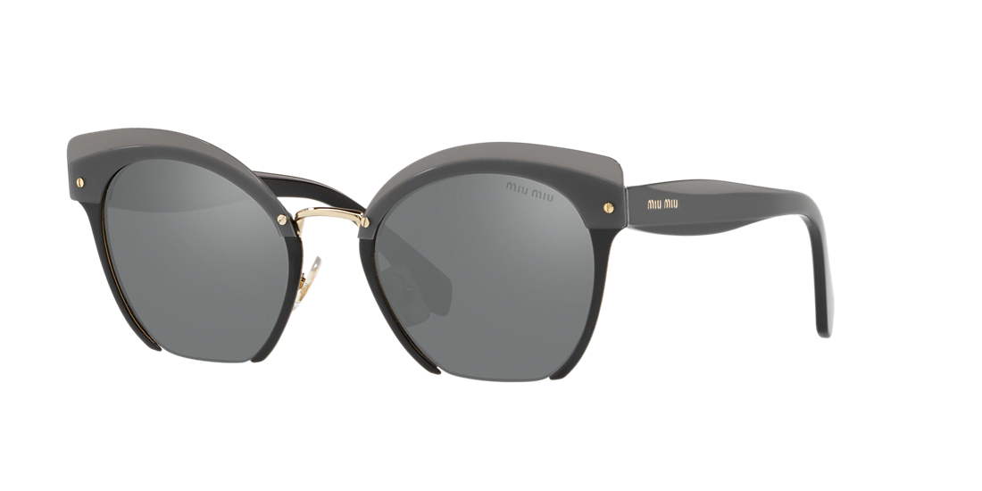 4b3c19da02b Miu Miu MU53TS 53 Silver   Black Sunglasses