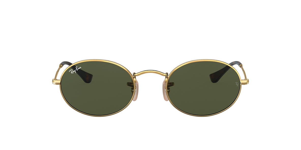 Gold RB3547N OVAL FLAT LENSES Green  54