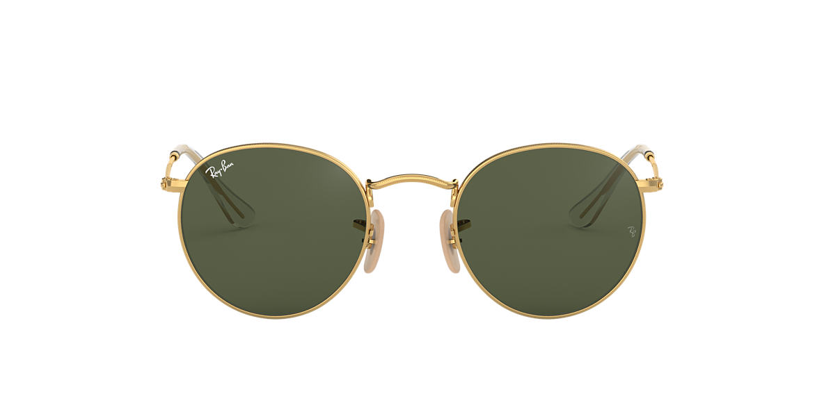 Gold RB3447N ROUND FLAT LENSES Green  53