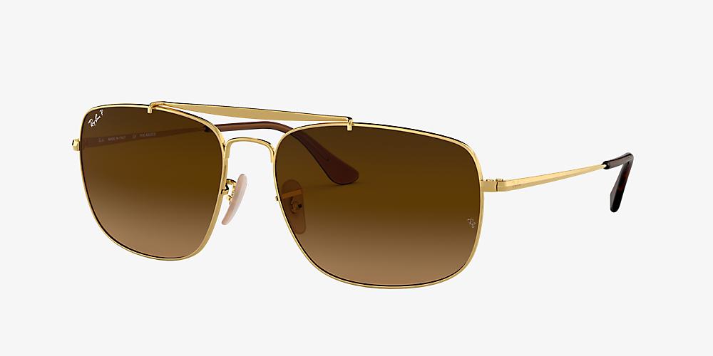 c3e60c504 Ray-Ban RB3560 61 Polarized Brown Gradient & Gold Polarised ...
