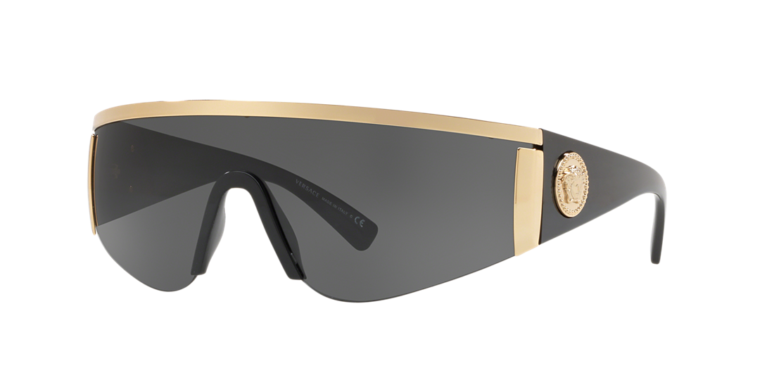 9585bc2483786 Versace VE2197 01 Grey-Black   Gold Sunglasses