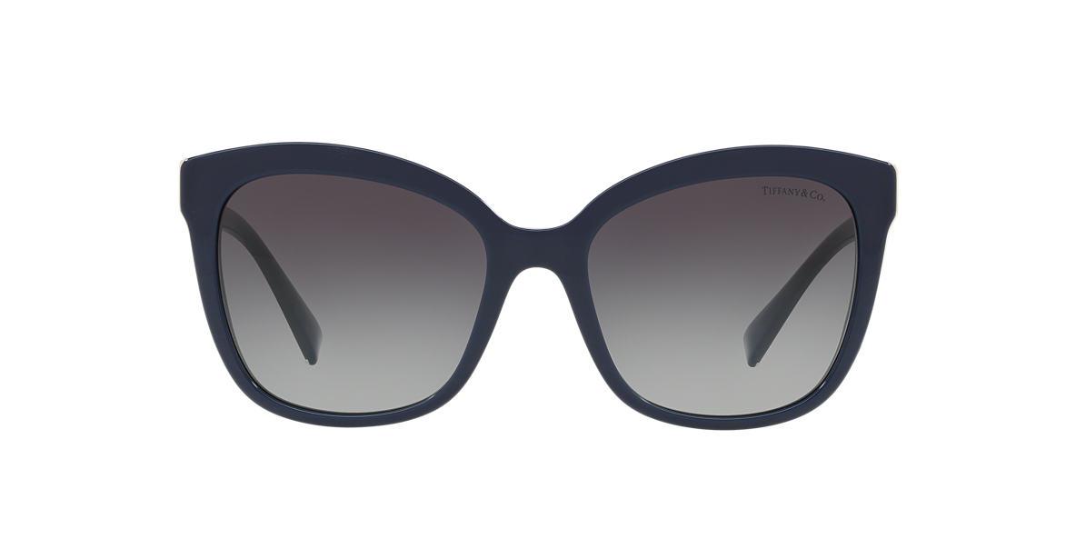 Blue TF4150 Tiffany Diamond Point Grey-Black  55