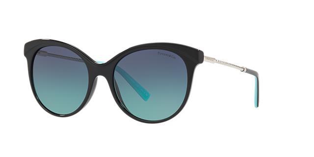 Diamond Point 55Mm Gradient Cat Eye Sunglasses - Black Gradient