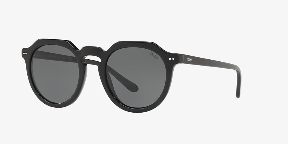 8a0a448dff0e Polo Ralph Lauren PH4138 49 Grey-Black & Black Sunglasses | Sunglass ...