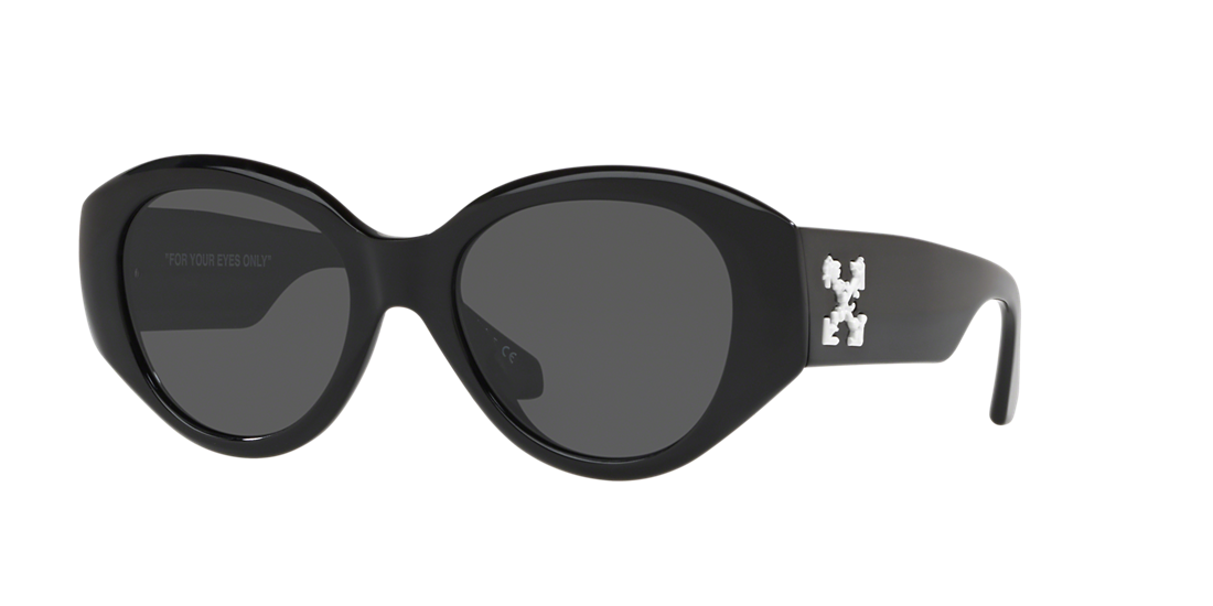 8ea9a38e2a6 Off White HU4003 54 Grey-Black   Black Sunglasses
