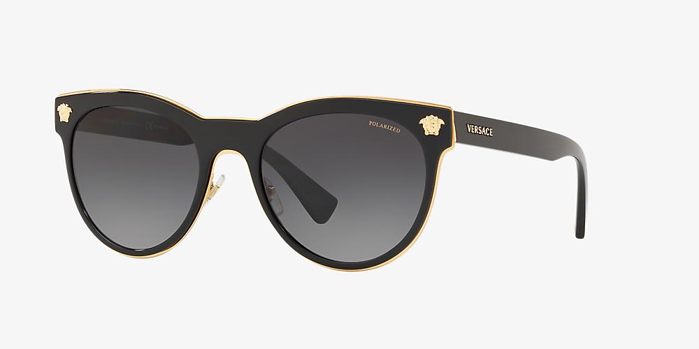 da42d628ed Versace VE2198 54 Grey-Black & Noir Verre polarisé Lunettes de ...