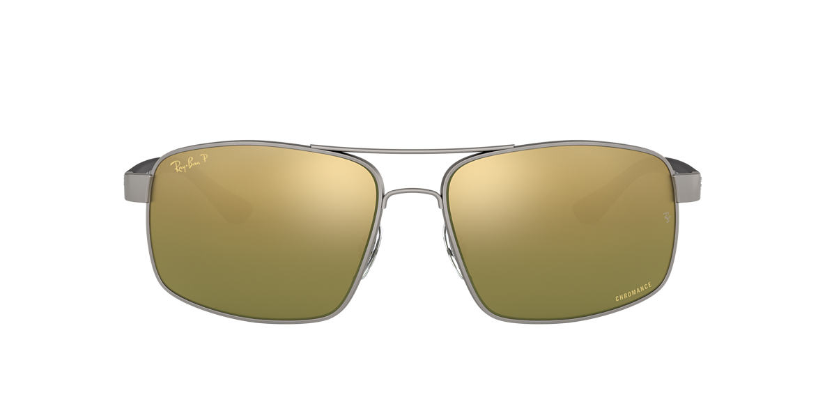4e2c30be6a RAY-BAN Gunmetal RB3604CH Green Mirror Chromance Polarized polarised lenses  62mm