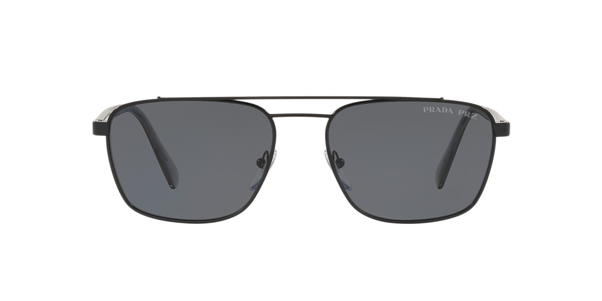 86313010dd Prada PR61US 59 Grey-Black   Black Polarised Sunglasses