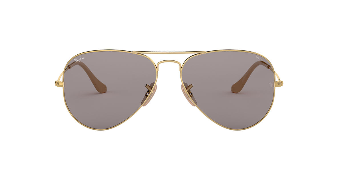 Gold RB3025 AVIATOR EVOLVE Grey-Black  58
