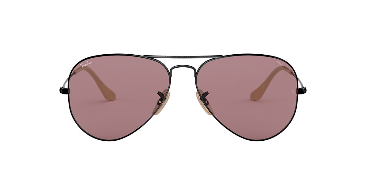 Black RB3025 AVIATOR EVOLVE Violet  58