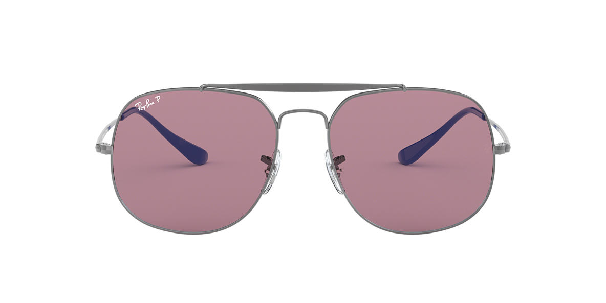 a415eab0c5 RAY-BAN Gunmetal RB3561 Polarized Purple Classic polarised lenses 57mm