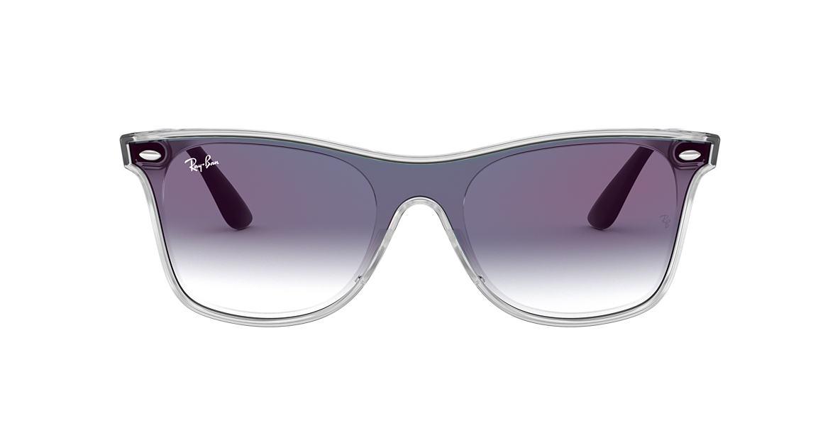 68d6c412601 Ray-Ban RB4440NF 01 Blue Gradient Mirror   Transparent Sunglasses ...