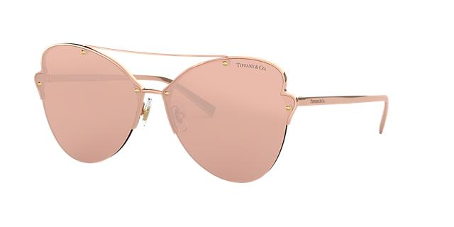 Tiffany &Amp; Co. 64 Pink Butterfly Sunglasses - Tf3063 in Pink Frames/Pink Lenses