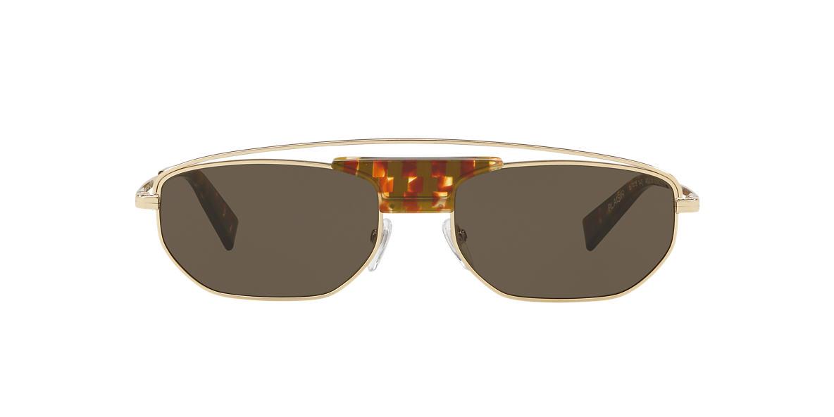 fe3b8f2acf Alain Mikli A04014 57 Green   Brown Sunglasses