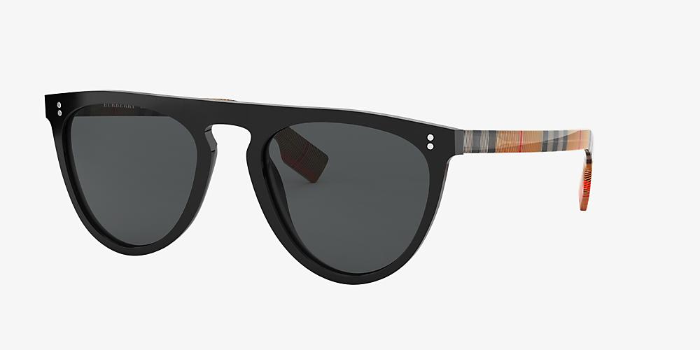 085cd6f970af Burberry BE4281 54 Grey-Black & Black Polarised Sunglasses ...