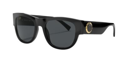 6441e9af7660 Versace Medusa Head   Greek Key Square Sunglasses In Black Frames Grey  Lenses. First seen in Oct 2018. 1 9