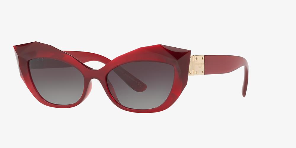 003af28f8563 Dolce & Gabbana DG6123 54 Grey-Black & Bordeaux Sunglasses ...