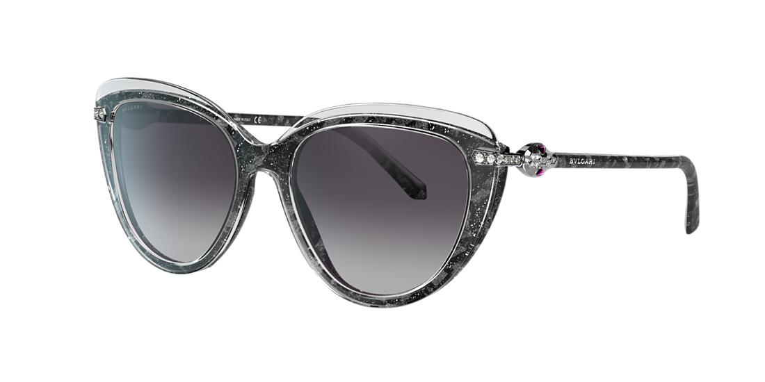 Bvlgari BVLGARI WOMAN  BV8211B -  FRAME COLOR: TRANSPARENT, LENS COLOR: BLUE, SIZE 55-18/140