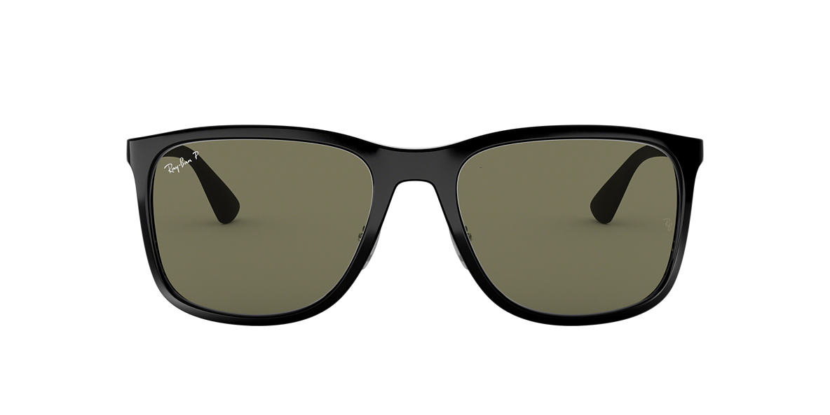 0c8bee87da RAY-BAN Black RB4313 Polarized Green Classic G-15 polarised lenses 58mm