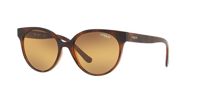 VOGUE Eyewear Sunglasses, Vo5246S 53 in Top Havana Light Brown / Orange Grad Grey Grad Grey