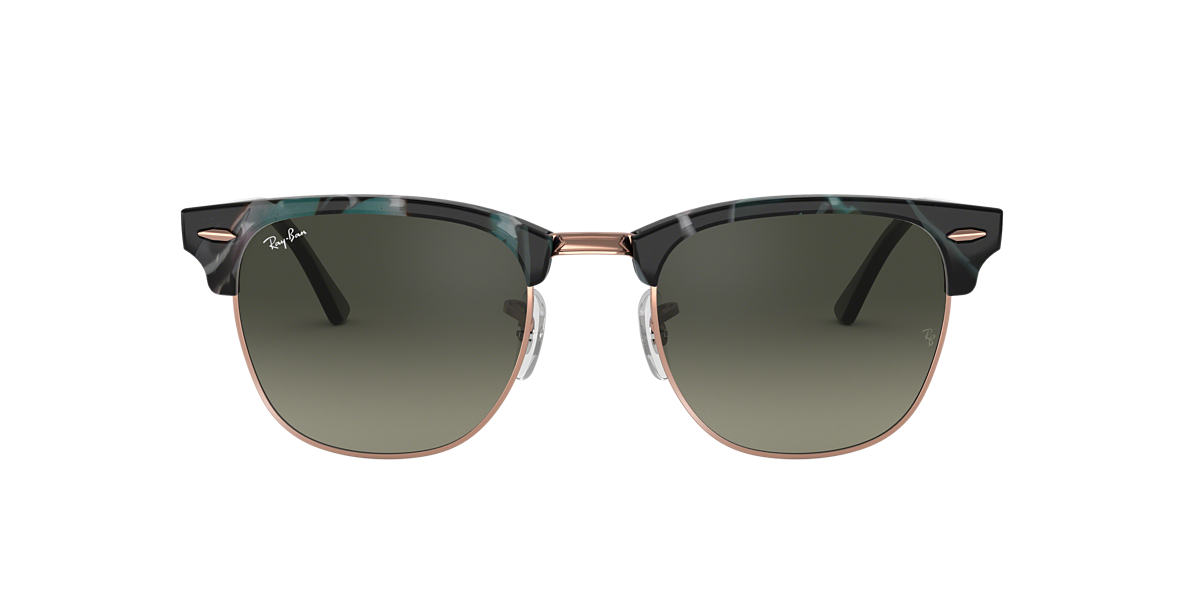 Spotted Grey and Green RB3016 CLUBMASTER FLECK Grey-Black  49
