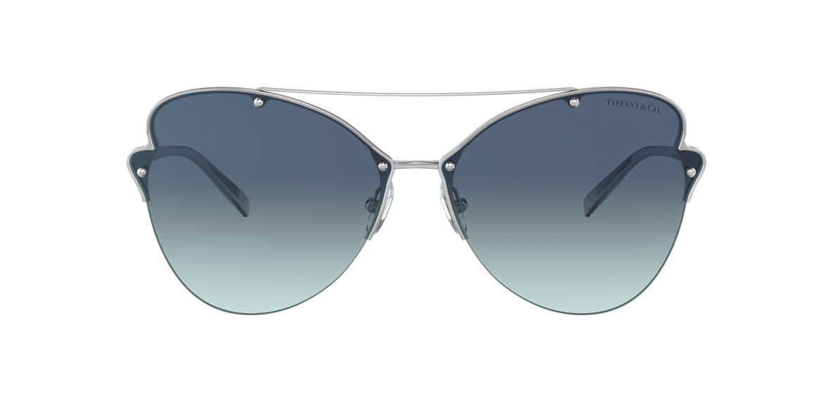 2094565502c Tiffany TF3063 64 Blue   Silver Sunglasses