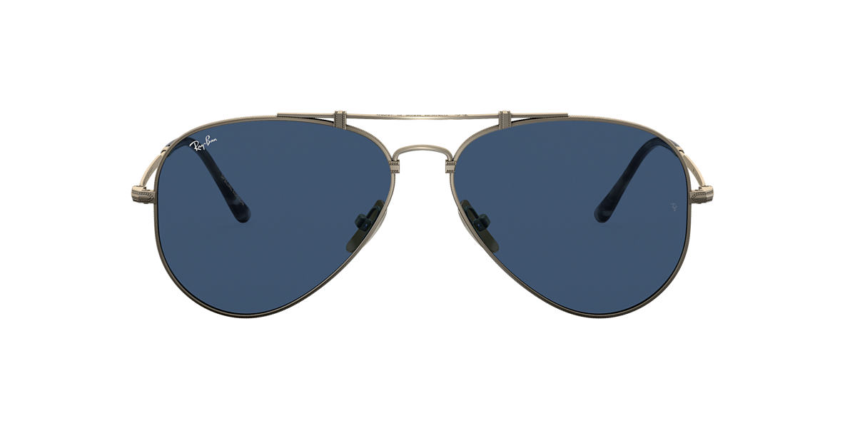 Marron RB8125 AVIATOR TITANIUM Bleu  58