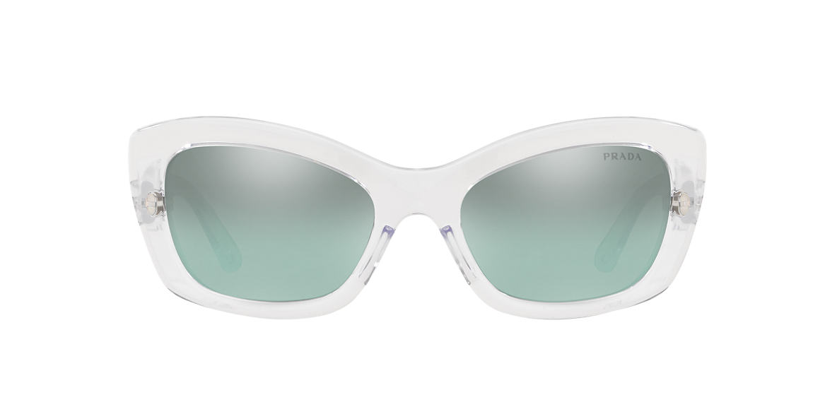 e28f6588c0 Prada PR19MS 56 Blue   Transparent Sunglasses