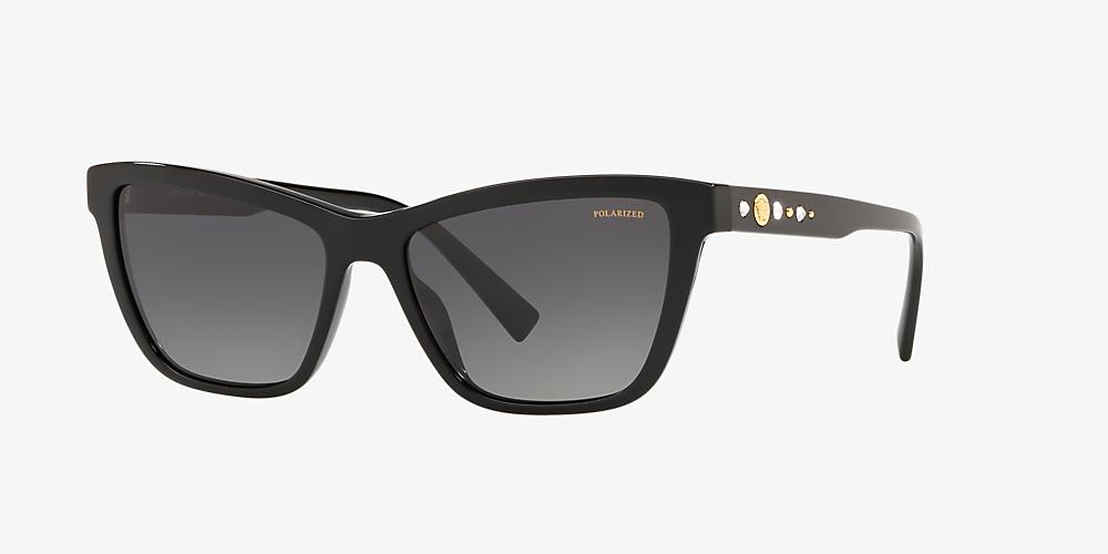 9c32820c0a32 Versace VE4354B 55 Grey-Black & Black Polarized Sunglasses ...