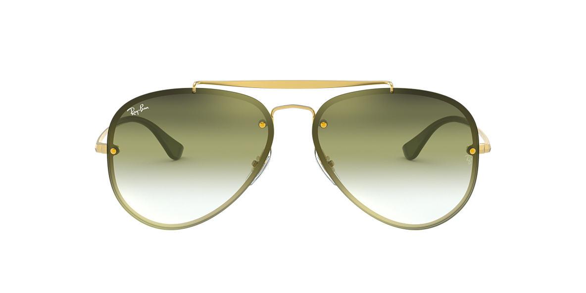 9c619b9b19866 Ray-Ban RB3584N 58 Green Grey Gradient Mirror   Gold Sunglasses ...