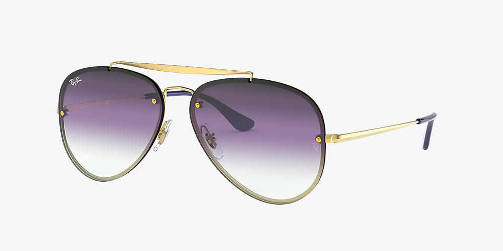 e71219a11 Ray-Ban RB3584N BLAZE AVIATOR 58 Violet/Blue Gradient Mirror & Gold ...