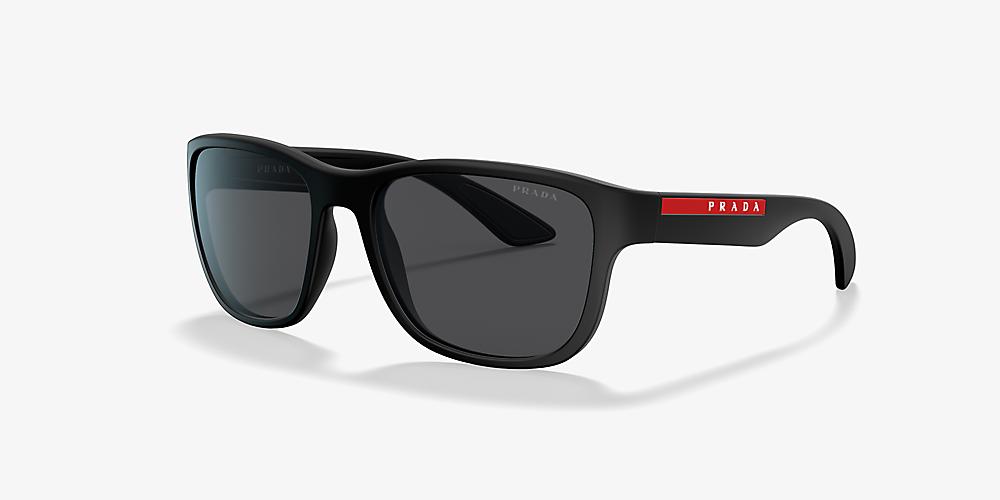 68d176ddd5ba Prada Linea Rossa PS 01US 59 Grey-Black & Black Sunglasses ...