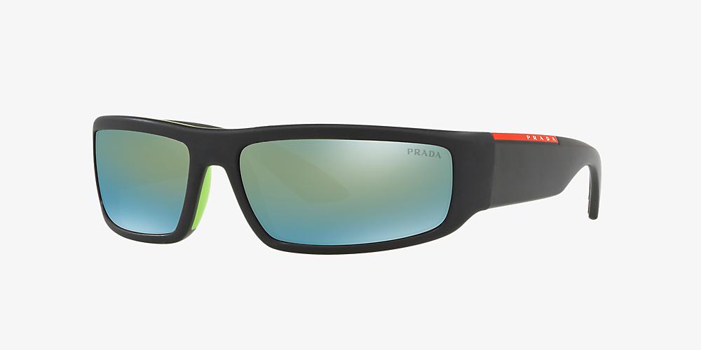 6ec705f824a8 Prada Linea Rossa PS 02US 65 Green & Black Sunglasses | Sunglass Hut USA
