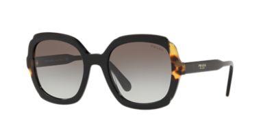 f4f2973a7364 Prada Pr 16Us 54 Black Square Sunglasses In Black Frames Grey Lenses. First  seen in Oct 2018. 1 1