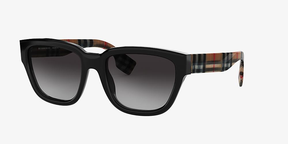 16364f576a1a Burberry BE4277 54 Grey-Black & Black Polarized Sunglasses ...