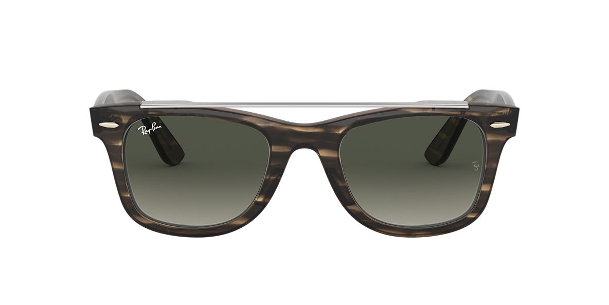Brown RB4540 WAYFARER DOUBLE BRIDGE Grey-Black  50
