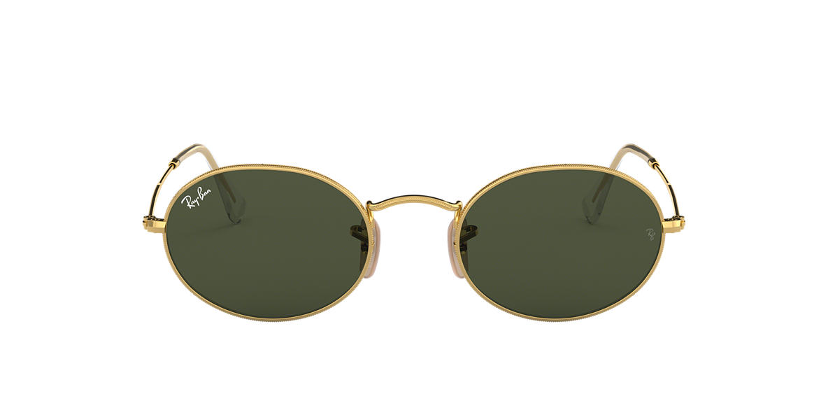 Gold RB3547 OVAL Green  51
