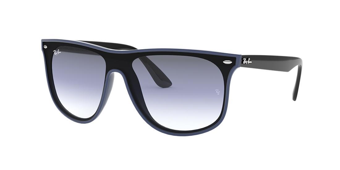Ray Ban Ray-Ban Sunglasses, Rb4447N 40 In Blue Demishiny/Grad Green Grad Grey Ar Ext G