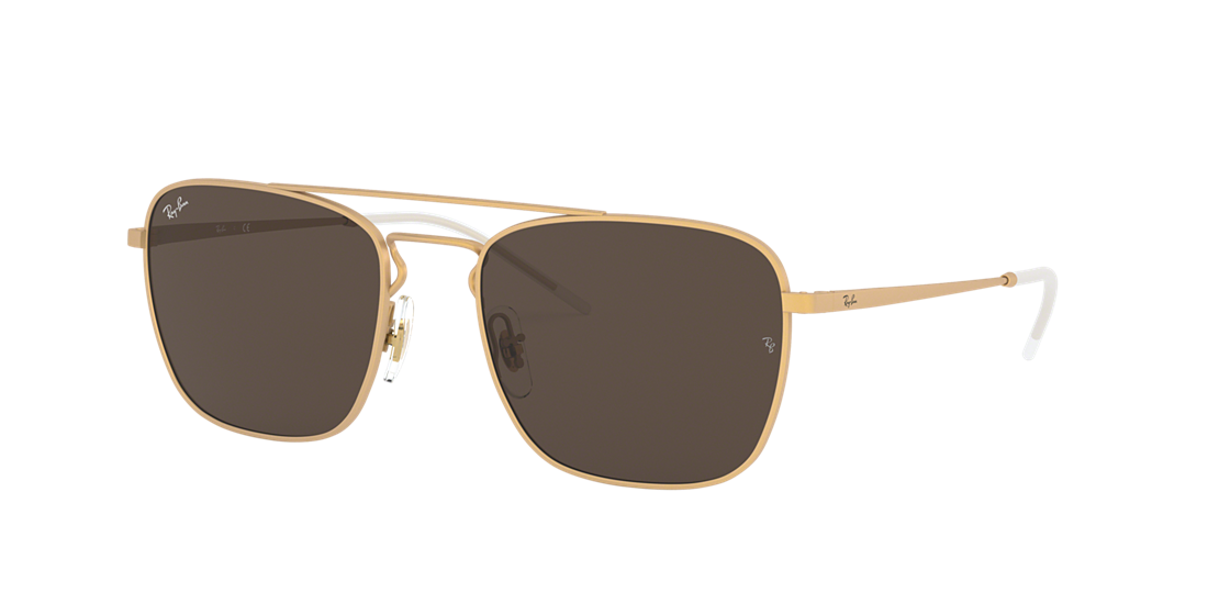 057d47ee06c Ray-Ban RB3588 55 Brown Classic B-15   Gold Sunglasses