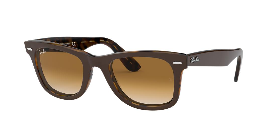 Ray Ban Unisex  RB2140 ORIGINAL WAYFARER COLOR MIX -  Frame color: Brown, Lens color: Brown Gradient, Size 50-22/150